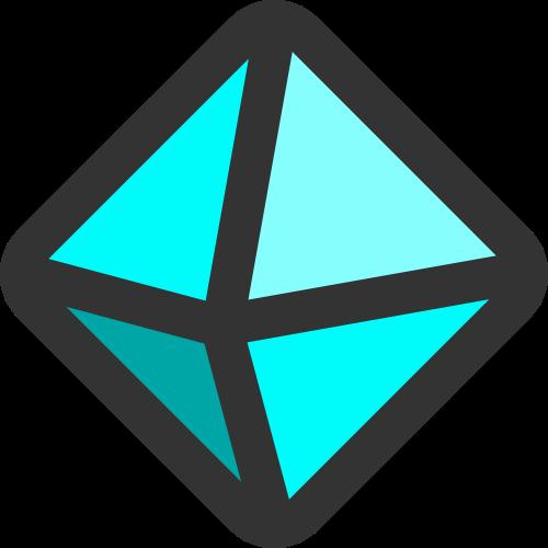 蓝色钻石矢量logo