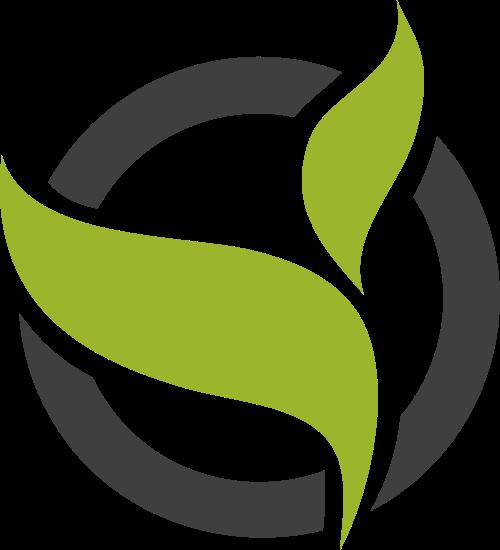 黑色圆圈叶子矢量logo矢量logo
