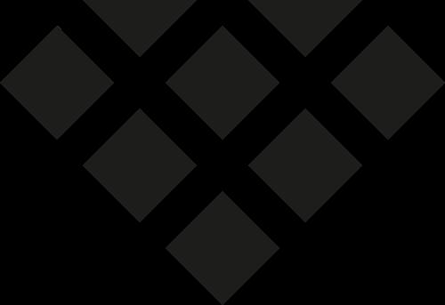 黑色方块钻石矢量logo