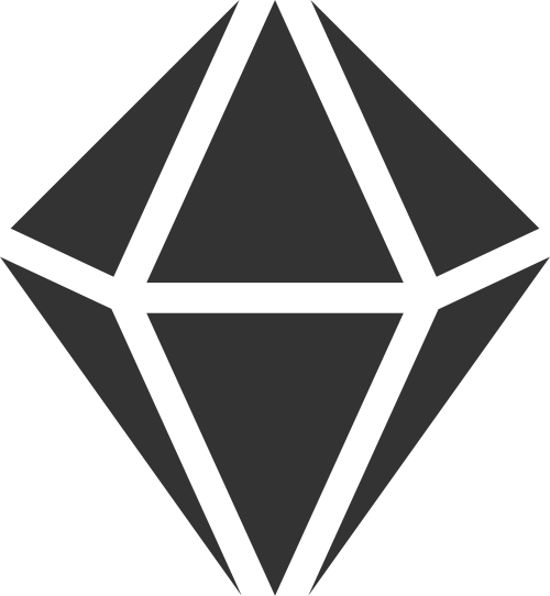 黑色钻石立体矢量logo