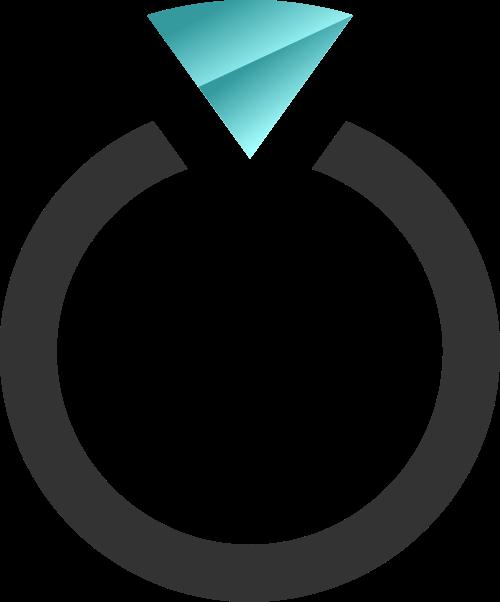黑色蓝色戒指矢量logo