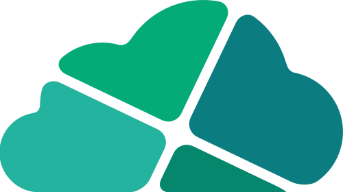 绿色云朵矢量logo元素