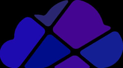 紫色云朵矢量logo