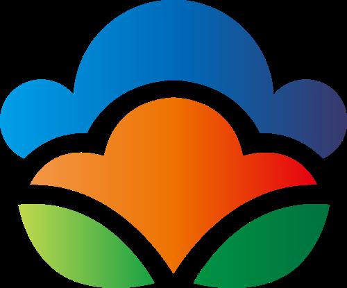彩色叶子餐饮矢量logo