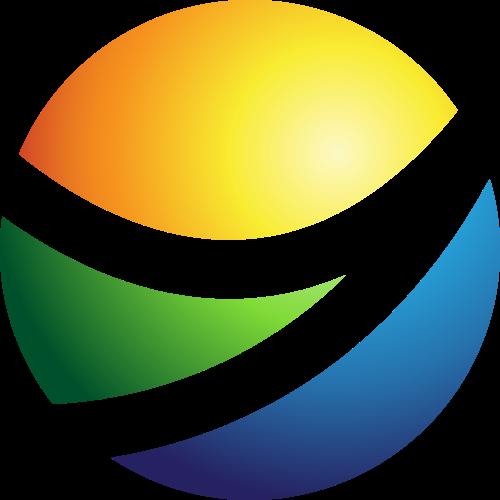 彩色球形矢量logo