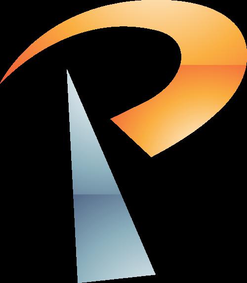 橙色字母P矢量logo图标矢量logo