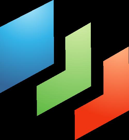 彩色方形矢量logo图片
