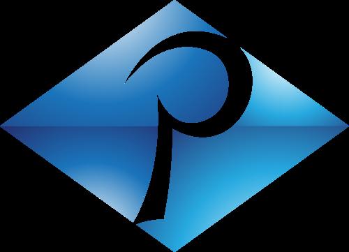 蓝色菱形字母P矢量logo图标矢量logo