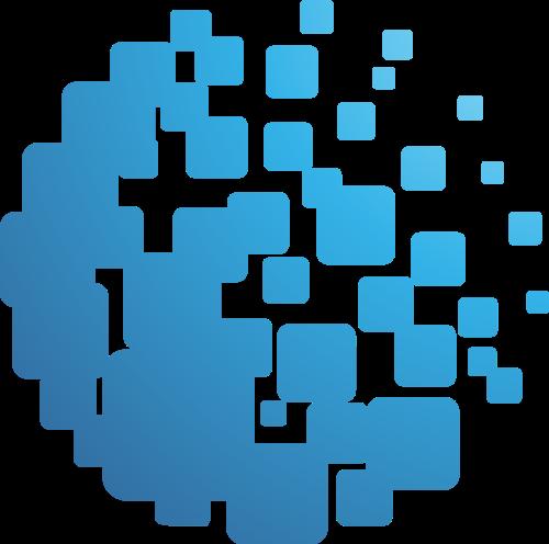 蓝色球形矢量logo
