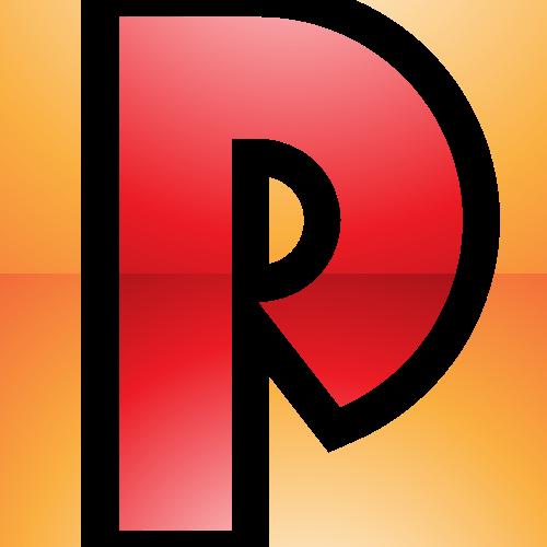 橙色字母P矢量logo