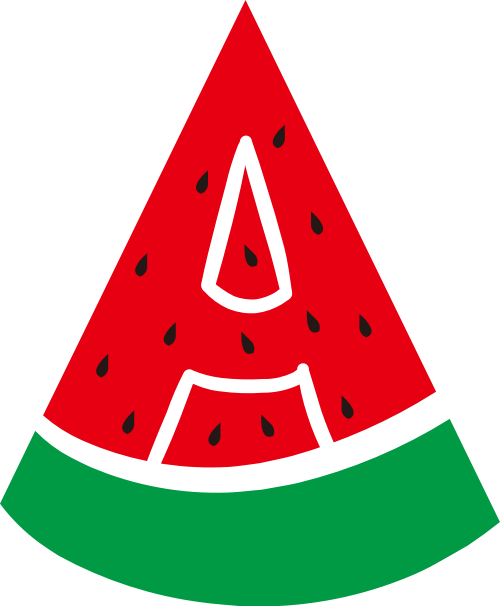 红色绿色西瓜矢量logo