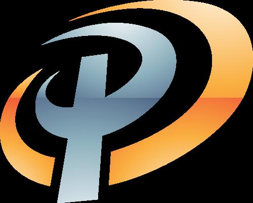灰色黄色字母P矢量logo图标