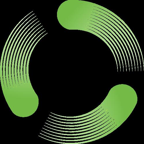 绿色圆环矢量logo图标