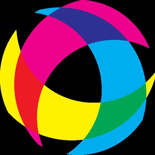 黄粉蓝互联网矢量logo元素