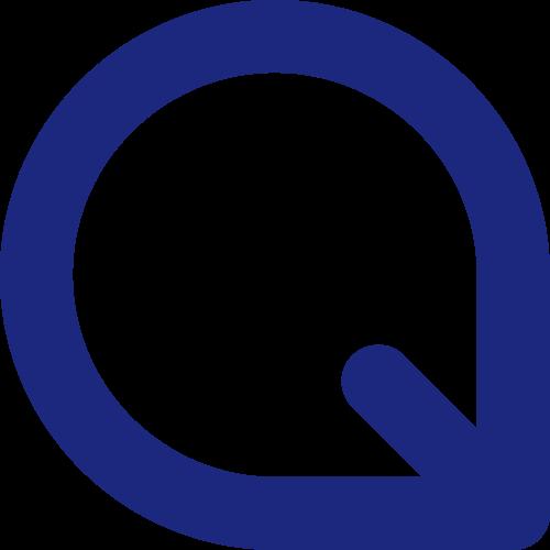 蓝色字母Q矢量logo