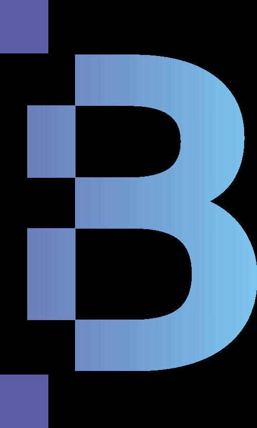 蓝紫色字母B矢量logo