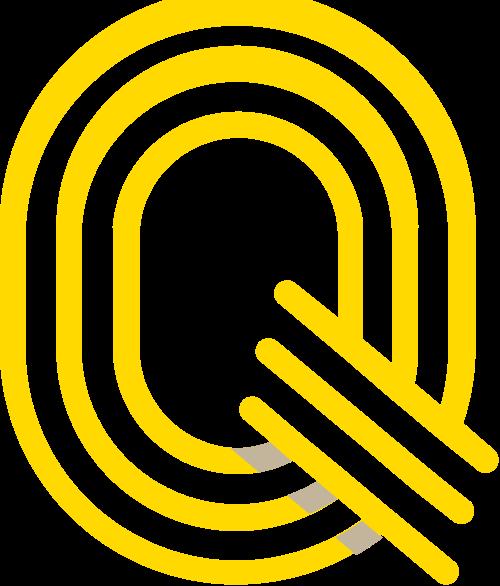 黄色字母Q矢量logo图标