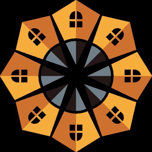 黄色房子铅笔家装矢量logo矢量logo