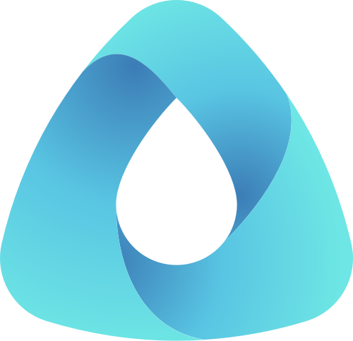 蓝色渐变科技矢量logo元素