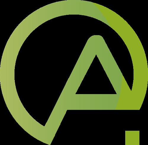 绿色字母A矢量logo图标