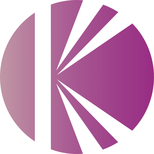 粉色圆形字母K矢量logo