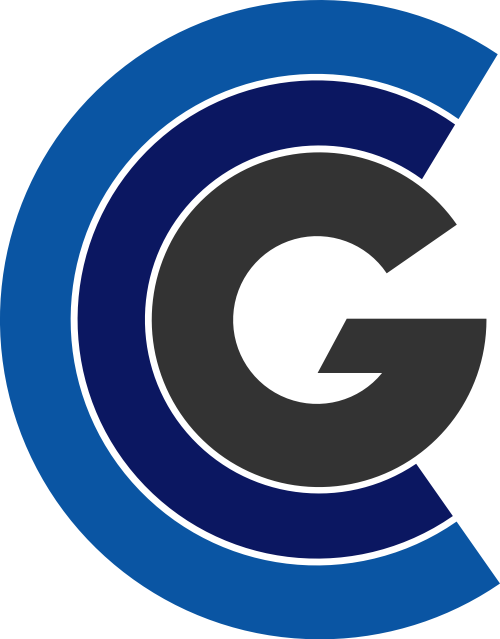蓝色黑色字母G矢量logo
