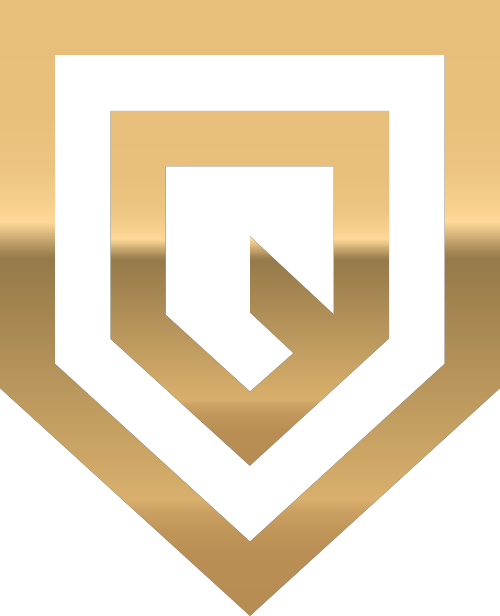 金色字母Q矢量logo元素