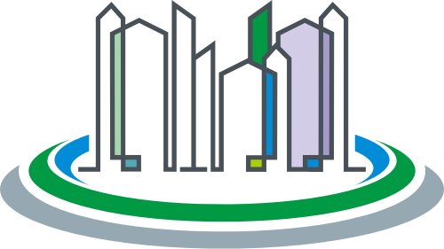 彩色建筑矢量logo元素