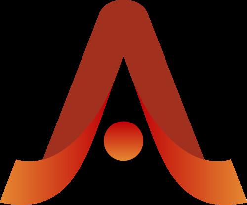 红色字母A矢量logo图标