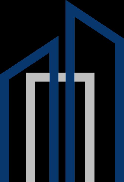 蓝灰色城市矢量logo