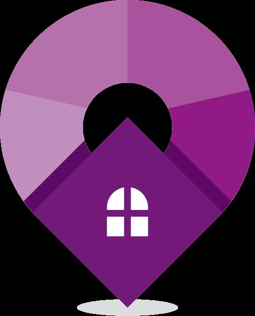 紫色房子矢量logo图标