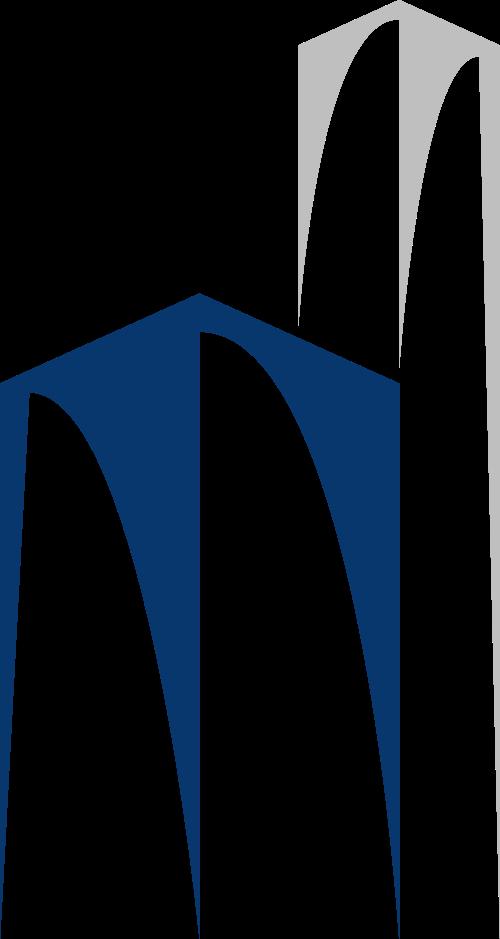 蓝色灰色建筑矢量logo