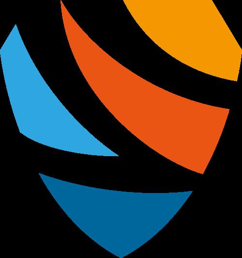 彩色盾牌矢量logo