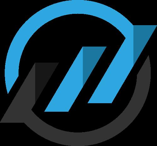 蓝色灰色圆形矢量logo