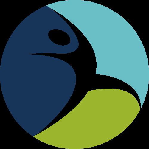 彩色人物原型矢量logo
