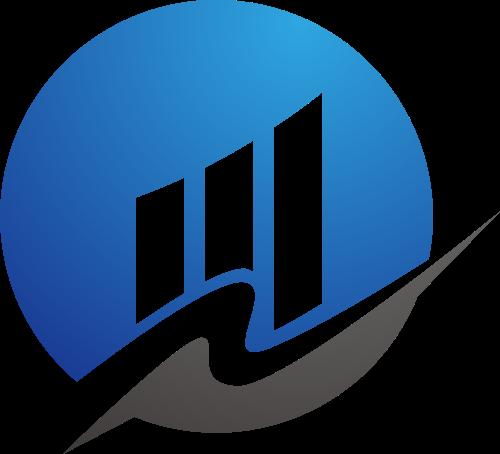 蓝色灰色办公商务矢量logo