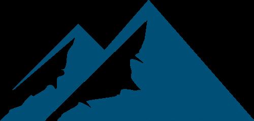 蓝色山峰矢量logo