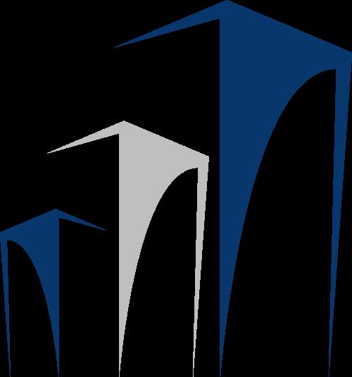 蓝色灰色建筑矢量logo图标