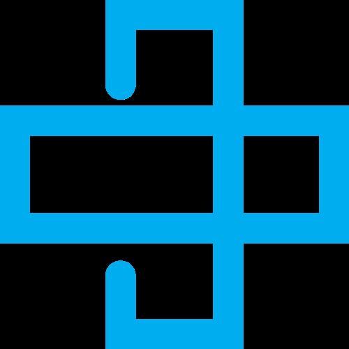 蓝色长条交叉矢量logo