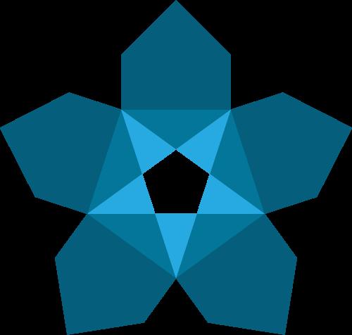 蓝色星星矢量logo元素
