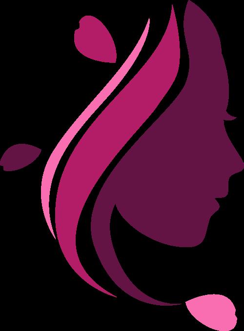 粉色女性头像矢量logo