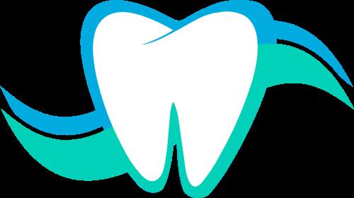 蓝色牙齿矢量logo元素