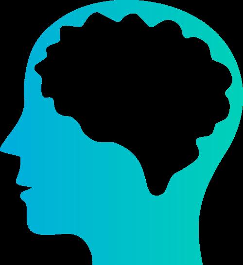 蓝色大脑矢量logo元素矢量logo