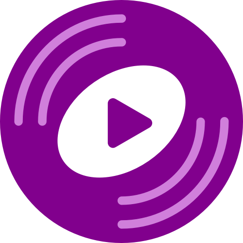 紫色圆形三角矢量logo
