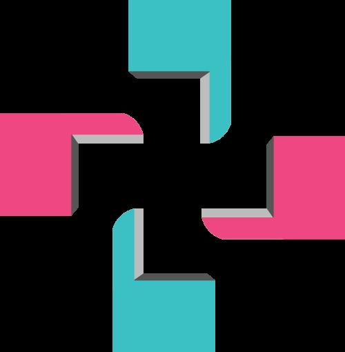 蓝色粉色办公矢量logo元素