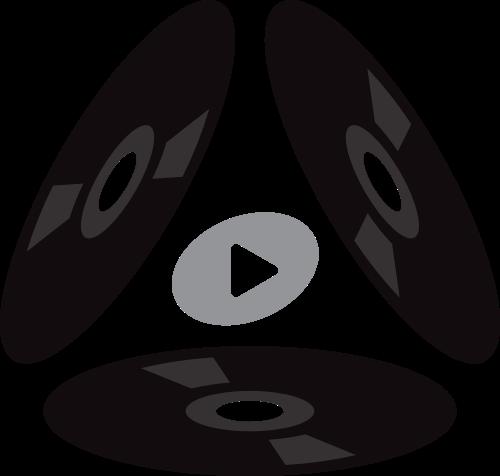 黑色光盘音乐矢量logo元素