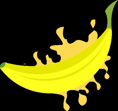 黄色香蕉饮品矢量logo图片