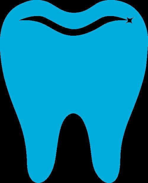 蓝色牙齿矢量logo