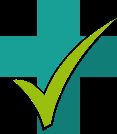 绿色十字对号矢量logo