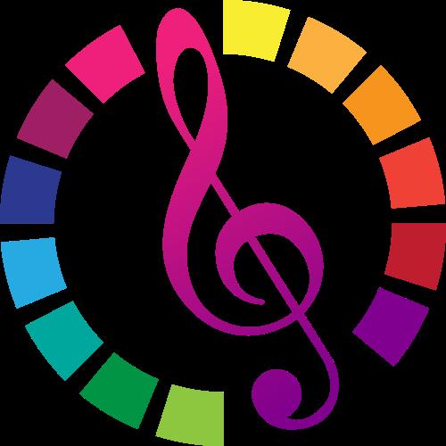 彩色音符矢量logo